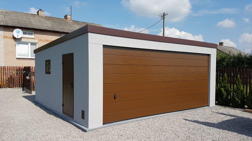 Garaż jednospadowy